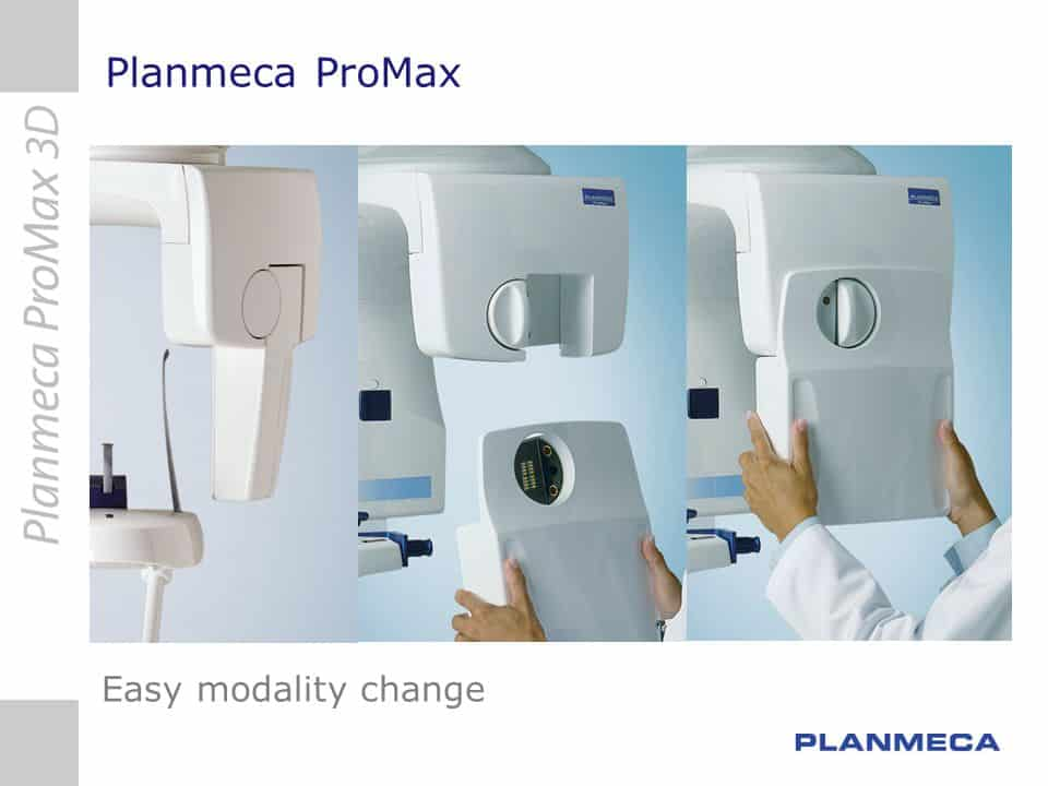 Planmeca ProMax Easy modality change